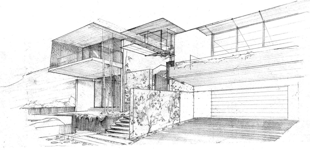 Tiburon House - Hand Drawing | CHENG Design