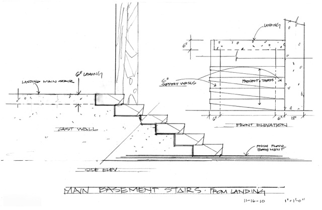 House 7 Stairs | Sketch from the side | CHENG Design | sustainable, emotional, timeless design