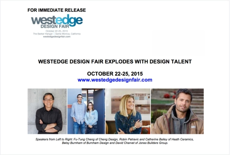 WESTEDGE DESIGN FAIR – Press Release