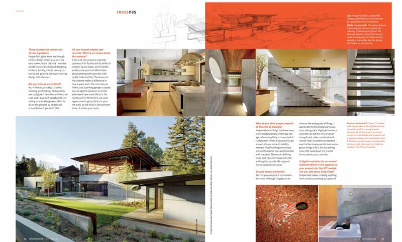 INTERIOR DESIGN HOMES – A Concrete Idea: Designer Fu-Tung Cheng brings an ancient Material into the Digital Age