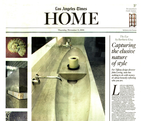 Los Angeles Times Home 2004, Cover Story   The Post-Granite Age – featuring CHENG Design