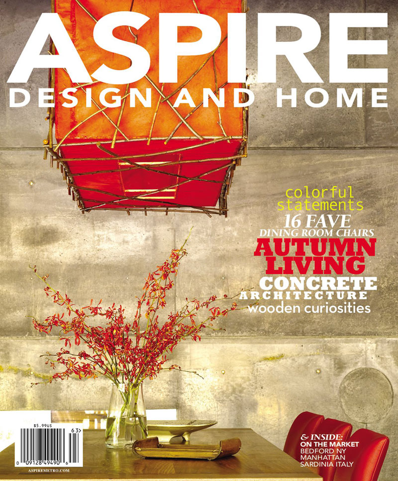 Aspire - Featured Cover - Fluent in Concrete: Fu-Tung Cheng Celebrates Concrete in the Most Expansive Ways, Including Building Homes, Authoring Bestselling Books and Developing ShapeCrete for the Homeowner