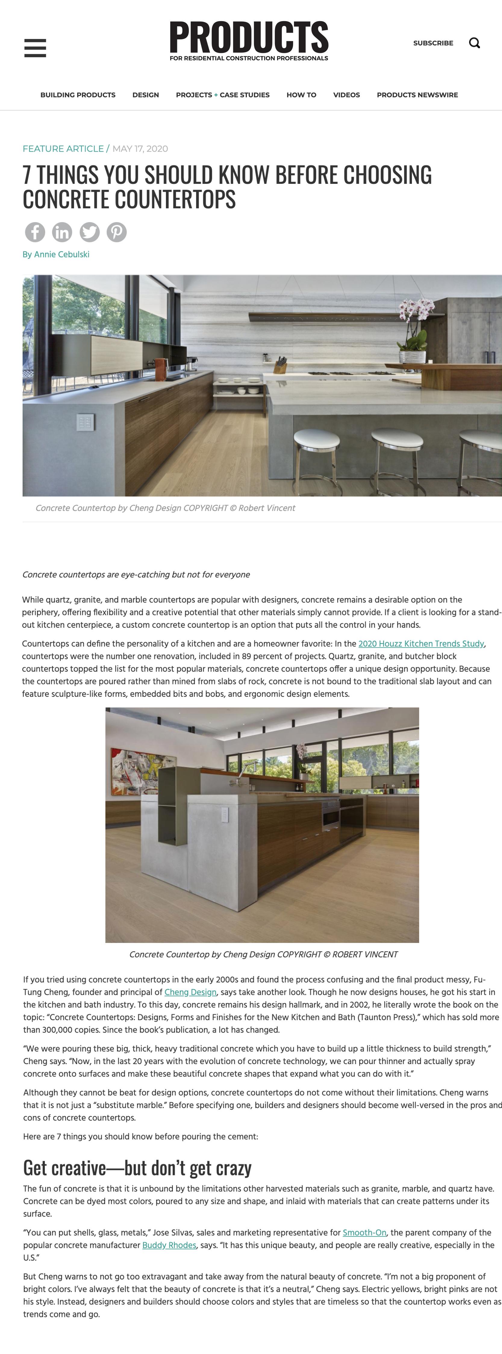 Products Magazine Cheng Design Sustainable Emotional Timeless Design